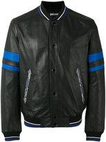 Just Cavalli snake embroidered jacket - men - Leather/Acetate/Viscose - 48