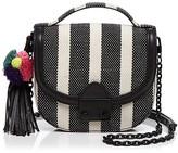 Loeffler Randall Striped Mini Canvas Saddle Bag - 100% Exclusive