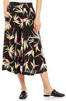 1 STATE Printed A-line Midi Skirt