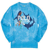 Ralph Lauren Childrenswear Long Sleeve Painterly Shark Graphic T-Shirt