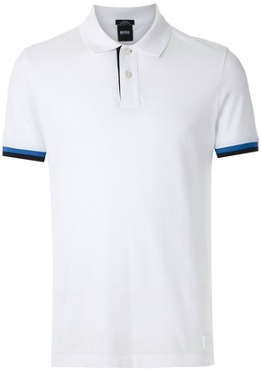 HUGO BOSS Stripe Sleeve Polo Shirt