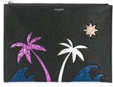 Saint Laurent Paris Sea, Sex & Sun zipped tablet holder - men - Lamb Skin - One Size