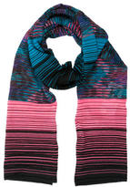 M Missoni Striped Multicolored Scarf w/ Tags