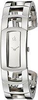 Calvin Klein Women's K3Y2M118 'Dress' Mirror Dial Stainless Steel Bangle Swiss Quartz Watch