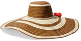 Sophie Anderson - Corozon Pompom-embellished Woven Straw Hat - Ivory