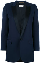 Saint Laurent Iconic Le Smoking 80's tuxedo jacket - women - Silk/Cotton/Polyester/Virgin Wool - 40