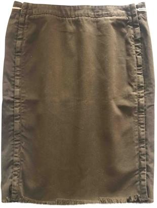 Jean Paul Gaultier Khaki Denim - Jeans Skirts