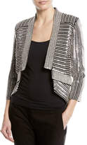 Sally Lapointe Sequined Open-Front Blazer