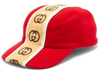 Gucci GG-jacquard Wool-felt Cap - Mens - Red