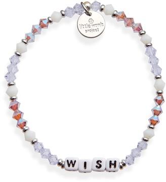 Little Words Project Wish Beaded Stretch Bracelet