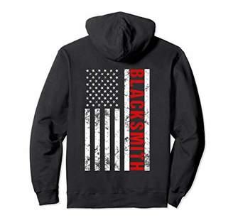 American Flag Blacksmith Pullover Hoodie