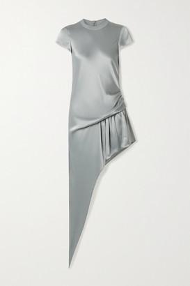 Alexander Wang Asymmetric Draped Satin Playsuit - Gray