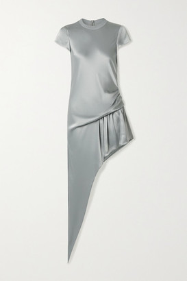 Alexander Wang Asymmetric Draped Satin Playsuit