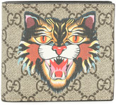 Gucci Angry Cat print GG Supreme wallet - women - Calf Leather - One Size