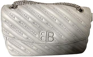 Balenciaga BB Round Grey Leather Handbags