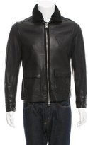 AllSaints Shearling-Trimmed Leather Jacket