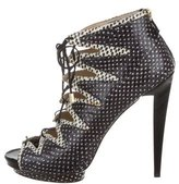 Burak Uyan Embossed Cage Pumps