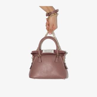 Maison Margiela pink 5AC Pochette medium leather shoulder bag