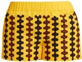 VITA KIN Riverbank embroidered lightweight linen shorts