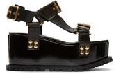 Sacai Black Studded Teva Flatform Sandal