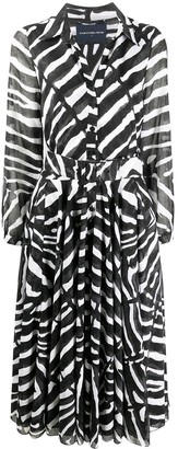 Samantha Sung Aster zebra-print dress