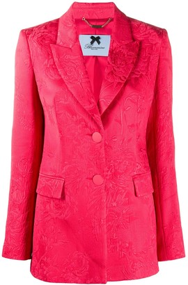 Blumarine Floral Patterned Structured Shoulder Blazer