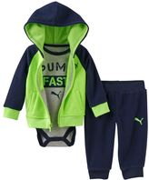 "Puma Baby Boy FAST"" Graphic Bodysuit, Fleece Hoodie & Pants Set"