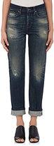 Baldwin Women's Lola Distressed Straight Crop Jeans-BLUE