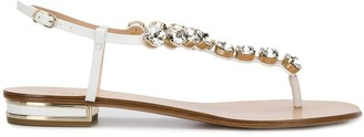 Casadei Crystal Strap Sandals