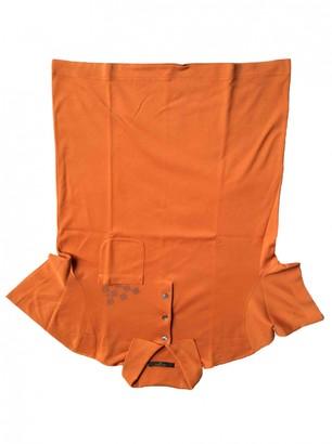 Louis Vuitton Orange Cotton Polo shirts