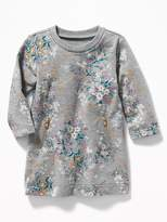 Old Navy Floral Zip-Pocket French Terry Dress for Baby