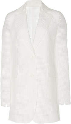 Akris Lapel Collar Cotton-Blend Jacket