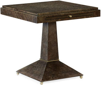 Caracole Back to Square One Side Table with Pull-Out Shelf