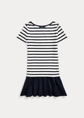 Ralph Lauren Striped Stretch Ponte Dress