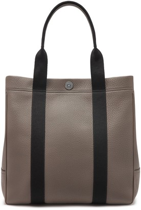Mulberry City Tote Earth Grey Heavy Grain and Webbing