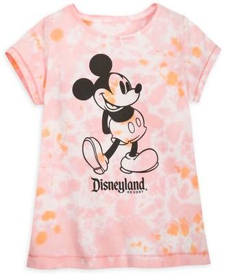 Disney Mickey Mouse Tie-Dye T-Shirt for Girls Disneyland Pink