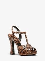 Michael Kors Rosanna Studded Python Platform Sandal