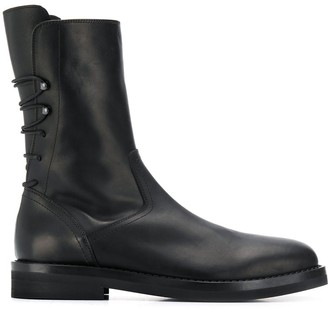 Ann Demeulemeester army boots