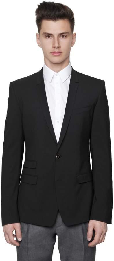 Dolce & Gabbana Stretch Wool Toile 2 Button Jacket