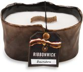 The Woods RibbonWickTM Brownstone Glowing Embers Scented Small Oval Candle