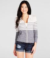 Chest Stripe Full-Zip Hoodie