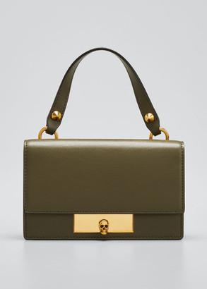 Alexander McQueen Skull Lock Small Leather Satchel Bag