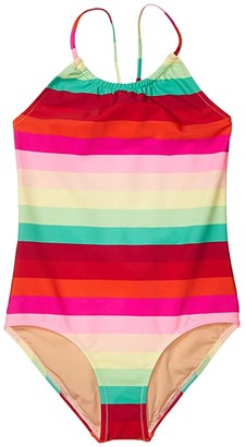 crewcuts by J.Crew One-Piece Swimsuit (Toddler/Little Kids/Big Kids) (Red/Green Multi) Girl's Swimsuits One Piece