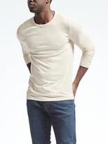 Banana Republic Supima Cotton-Blend Waffle-Knit Crew Pullover