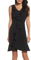 Gabby Skye Women's Ruffle Crepe Dress