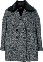 Twin-Set peaked lapels double-breasted coat