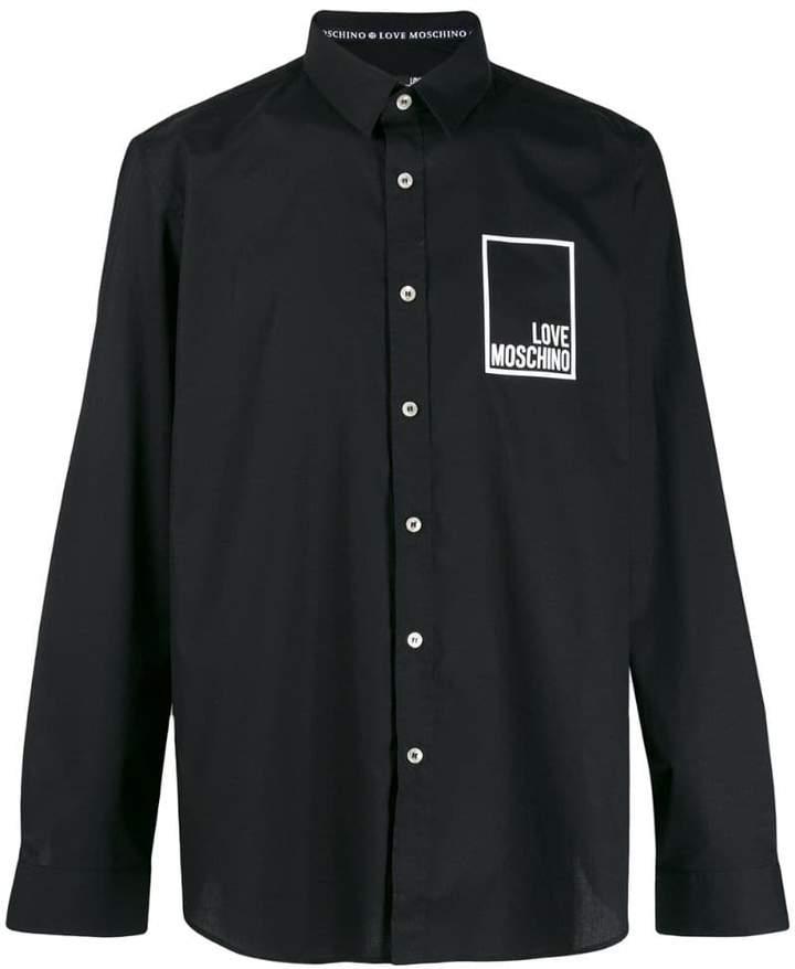 09d1258cf879 Love Moschino Black Men's Shirts - ShopStyle