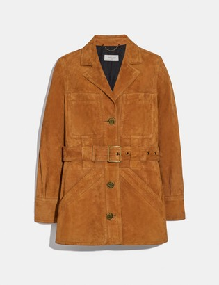 Coach Suede Trench Jacket
