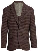 Brunello Cucinelli Wool & Cashmere Houndstooth Sportcoat