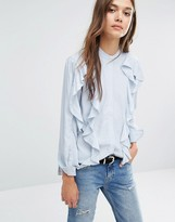 Warehouse Ruffle Blouse